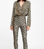 WISHBOP NEW 2018 Autumn LEOPARD PRINT BODYSUIT Long sleeves with Crossover V neck snap button fastening on bottom