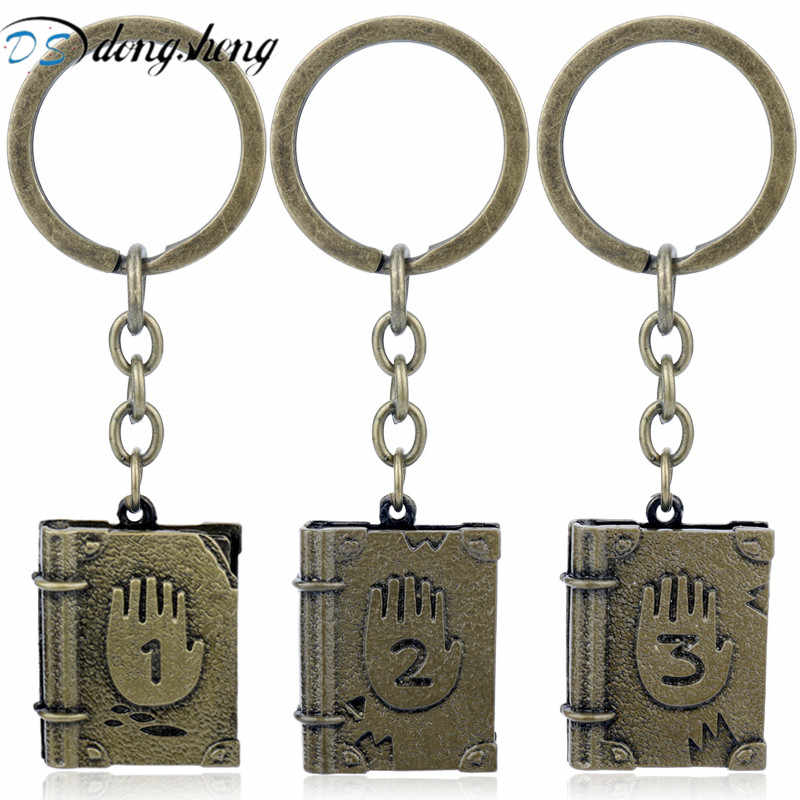 dongsheng 2018 Fashion Gravity Falls Journal III Keychains Metal Alloy Diepsloot Diary Key Chain Ring for Men Jewelry chaveiro