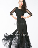 Free Shipping New 2013 Sexy Black Lace Custom Wedding Party Long Sleeve Mermaid Prom Winter Dress