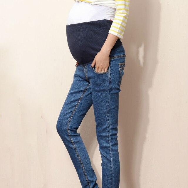 Plus Size L -5XL Maternity Jeans Pants New Spring Autumn Fashion Pregnant Women Prop Belly Denim Pant Stretch Trousers