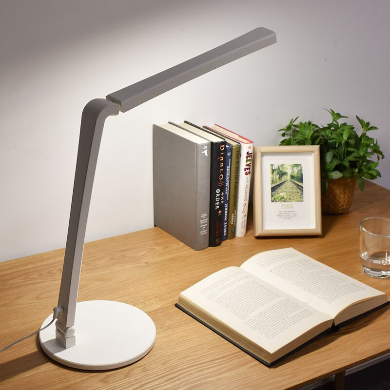 Fashion LED Desk Lamp Folding Office Lamp Touch Table Lamp 3-level Dimmer Eye-caring Bedside Reading Lights Soft Natural Light
