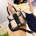 2016 New Fashion Summer 6 colors  PVC Transparent Women Messenger Bags Women Clutch Cross Handbags Beach bags Tote Dollar price