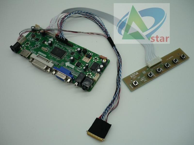 HDMI+DVI+VGA Kit for N173O6-L02 LCD LED LVDS Controller Driver Board