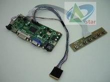 """HDMI + DVI + VGA + AUDIO LCD contrôleur carte kit pour 17.3 """"N173O6 L02 B173RW01 1600*900 40 aiguille ordinateur portable LCD contrôleur carte kits bricolage"""