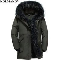 KOLMAKOV New Men's Duck Down Coats Winter Goose Down Jackets Men Thick Jackets Fluff lining Overcoat Parkas S 5XL Fur Coats Male