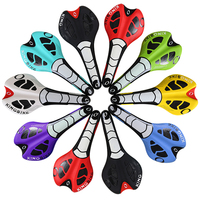 New 2015 Hot Bicycle Seat Leather Black Red Line Shape Design Mountain Road Bike Saddle 27