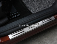 4pcs Stainless Steel Interior Door Sill Scuff Plate Cover For Peugeot 3008 GT 2016 2017
