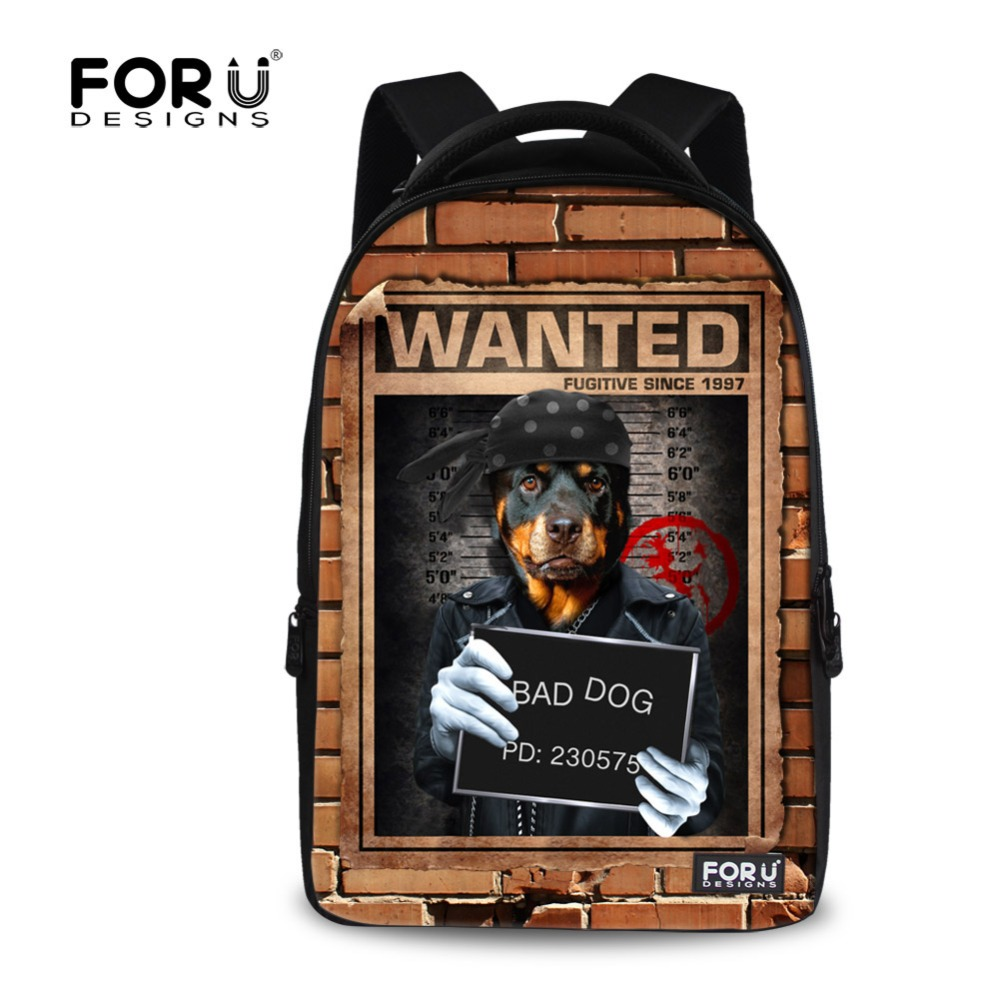 Cool Rottweiler Printing Boys School Backpacks for College Students Fashion Laptop Back Pack Men's Travel Backpack Teenager Boys напольная акустика paradigm persona 9h aria metallic blue