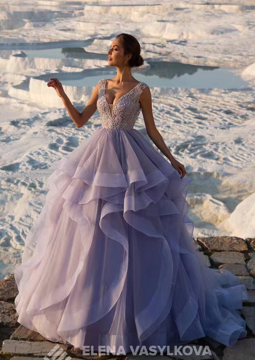 Soulful Quality Free Customize Beaded Corset Swirls Skirt Light Lavenderwedding Dress 2017 Buyers Show Wedding Dresses From Weddings On Quality Free Customize Beaded Corset Swirls Skirt Light