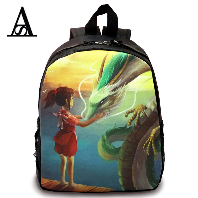 2016 new baby cartoon mochila para el cole colegio Spirited away women fashion school children backpack girls bags kindergarten