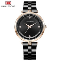 MINI FOCUS Super Slim Mesh Stainless Steel Watches Women Top Brand Luxury Casual Clock Ladies Wrist Watch Lady Relogio Feminino