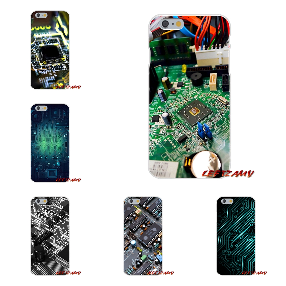 funny motherboard For iPhone X 4 4S 5 5S 5C SE 6 6S 7 8 Plus Accessories Phone Cases Covers