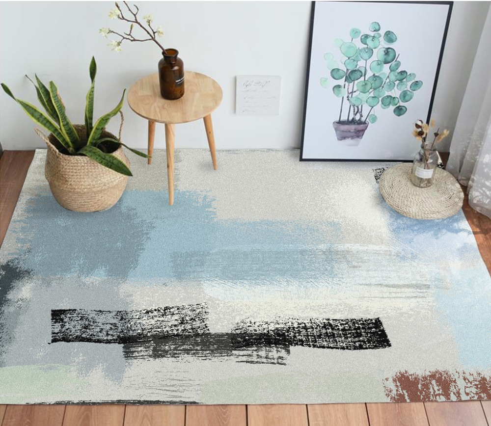 Tapis géométrique nordique pour salon chambre couverture de chevet tapis paillasson extérieur salon de prière maison tapis de sol tapis anti-dérapant