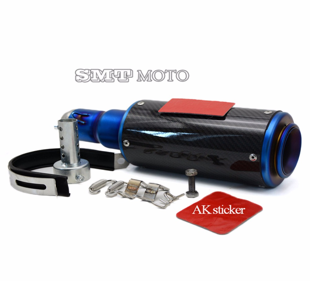 HOT SALE motorcycle muffler carbon fiber 50mm exhaust pipe For Honda CBR600RR 2003 2004 2005 2006 2007 2008 2009 2010 2011 2012 hot sale motorcycle muffler carbon fiber 50mm exhaust pipe for kawasaki zx 6r 2005 2006 2007 2008 2009 2010 2011 2012