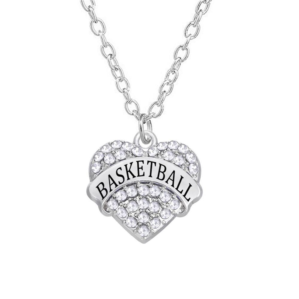 Personalized Engraved Name Basketballs Pave Rhinestone Charm Link ...