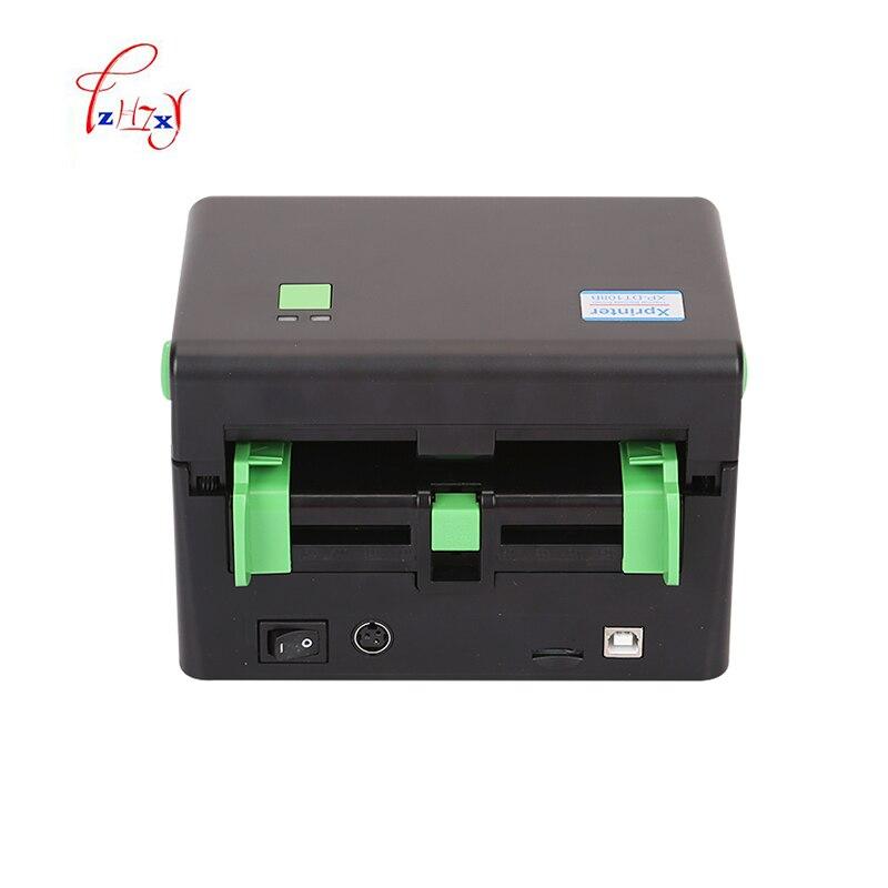 Expédition Express imprimante d'étiquettes largeur maximale 108mm Qr code autocollant imprimante thermique étiquette code à barres imprimante 1 pc