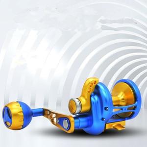 Image 3 - Sản phẩm mới TM200 500 CNC Tất Cả Các kim loại Sea Trống đánh cá bánh xe 11BB Heavyweight Thuyền sắt đánh cá tấm Chậm lắc Fishing reel