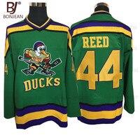 BONJEAN barato Mighty Ducks Movie Jersey #44 Fulton Reed hielo Hockey Jersey cosido invierno deporte verde