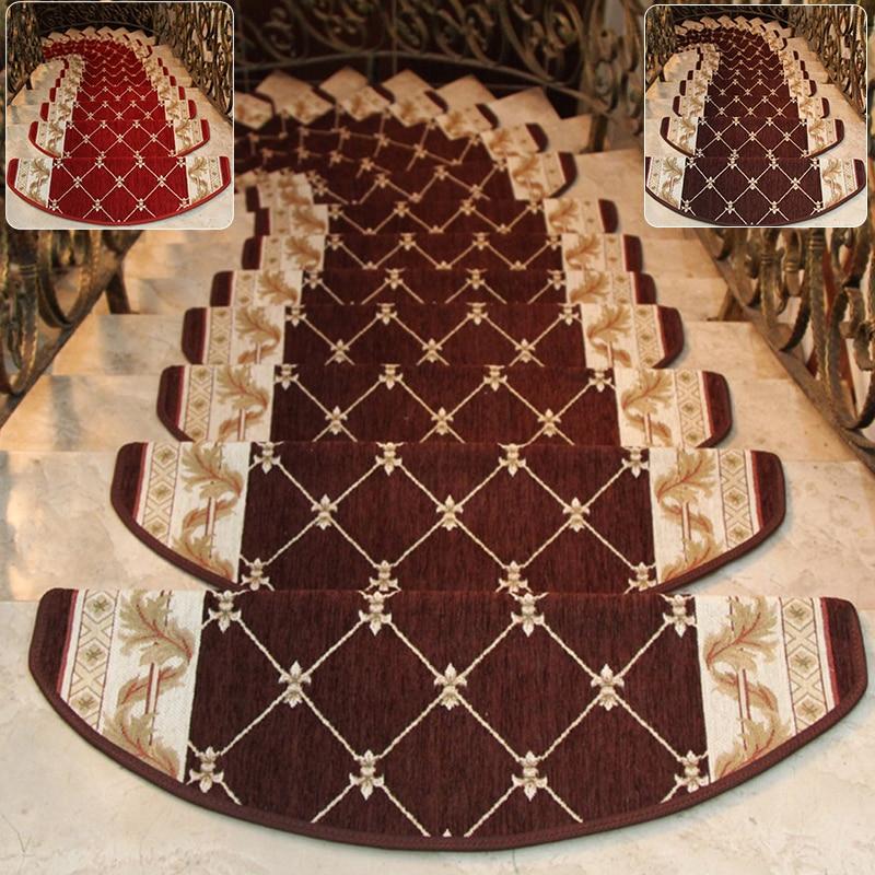 1*small Carpet 24*64cm European Palace Style Non-slip Stair Tread Carpet Mat Step Rug Home Decoration High Quality