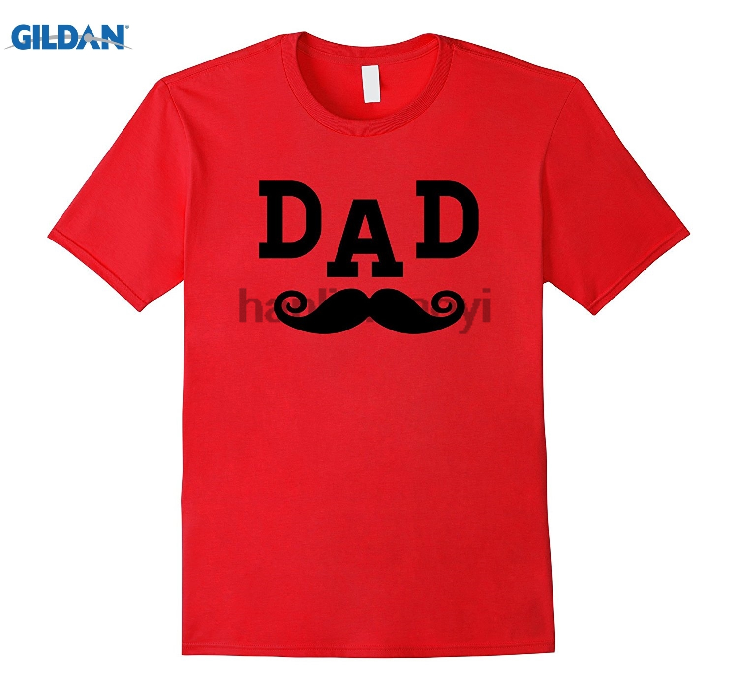 GILDAN Mens Fathers Day T-Shirt Great Gift Idea Mustache Dad Shirt