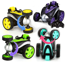 цена на Wireless Remote control stunt car Tumbling Stunt Dump Truck car Toys For Children Electric Cool Toy Boy Birthday best Gifts