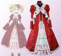Butler negro ciel cosplay dress vestido de novia elizabeth traje de falda larga de las mujeres góticas montó noche dress