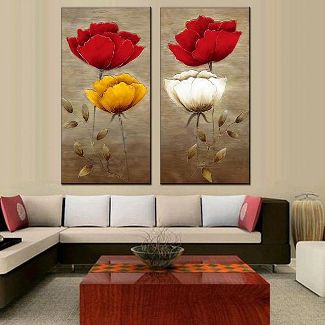 aliexpress com buy 2 pcs set modern wall painting fashion flower
