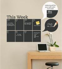Blackboard Wall Sticker zyva-212 new style removable vinyl wall sticker slate for home decoration Mural Planner Fast shipping *