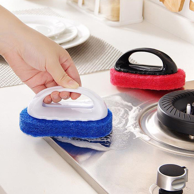 Hot 1PC Creative Clean Sponge Brush Ceramic Tile Cleanser Bathtub ...