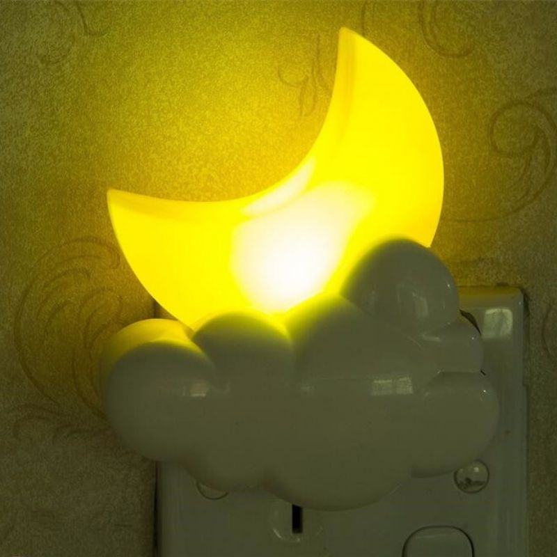 Moon LED Night Light Children Wall mounted Home Bedroom ...