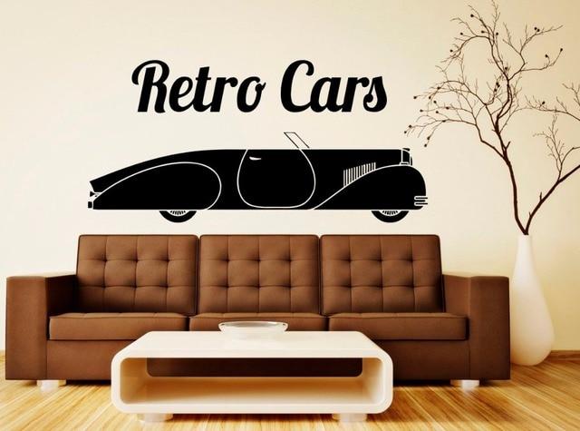 Retro Art Woonkamer : Retro cars muursticker vintage sportwagen muurtattoo verwijderbare
