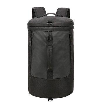 af5cfde32 Gran bolsa de viaje de gran capacidad hombres equipaje de mano bolso  Fitness bolsas FIN DE SEMANA bolsos viaje hombro mochila bolso organizador