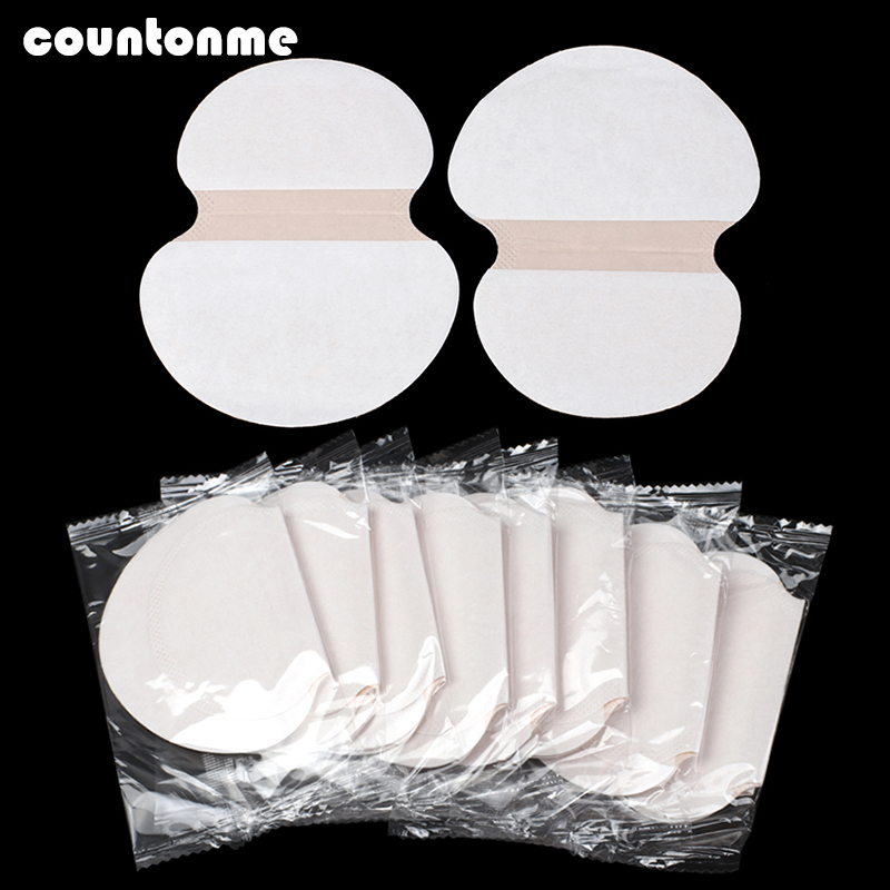 100pcs Summer Underarm Sweat Pads Disposable Armpit Absorbent Pads Ultra-thin Anti Perspiration Body Cleaning Dry Pads Deodorant