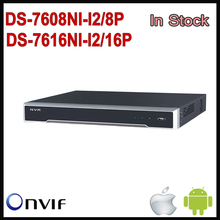 Hikvision NVR 8CH 16CH POE HD DS-7616NI-I2/16P DS-7608NI-I2/8P 12MP Network Video Recorder Plug and Play For H.265 8 Channel NVR