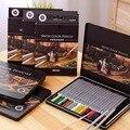 72 цвета/набор Deli художественный цветной карандаш набор для рисования Профессиональный деревянный акварельный дизайн канцелярские принадл...