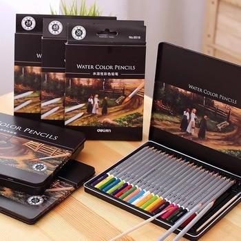 72 colores/set Deli Art Colored Pencil Set para pintar profesional de madera diseño de acuarela material de papelería para grafiti Supplies