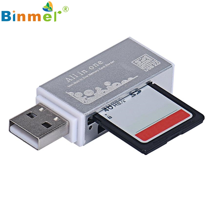 Del USB 2.0 All In 1 Multi Memory Card Reader For TF Card SD Card MMc Card Feb26