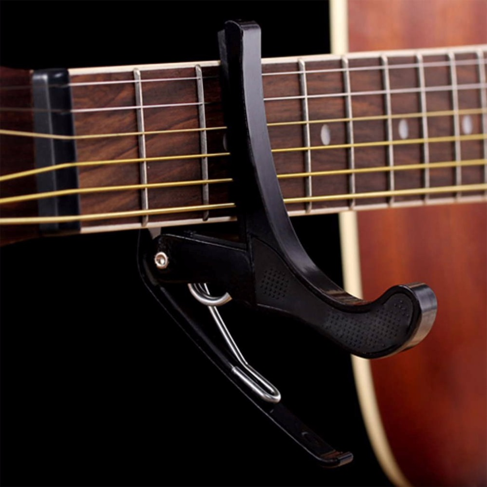 Hot Sale Electric Classic Guitar Quick Change Tune Clamp Key Trigger Cap Clip For Acoustic EJ670774 Free Shipping&Wholesales aluminium alloy quick change clamp key clip acoustic classic electric guitar capo for tone adjusting