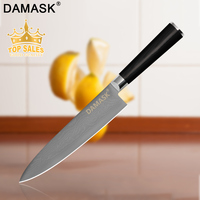 Damask Damascus Steel Kitchen Knife Bread Slicing Chef Knife VG10 67Layers Damascus Cleaver Kitchen Cooking Accessiores Gift Box