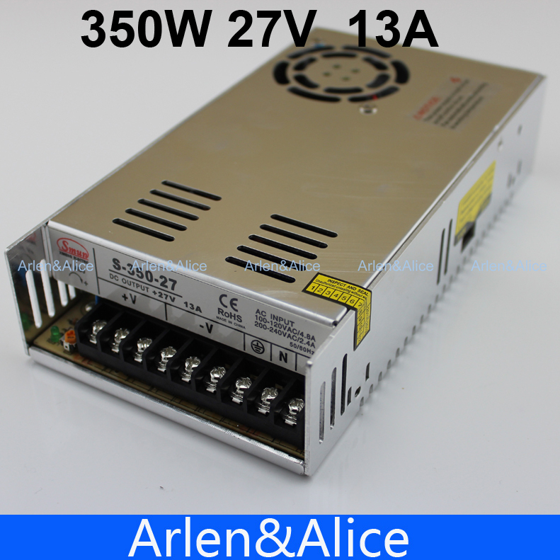 350W 27V 13A  Single Output Switching power supply AC TO DC meanwell 12v 350w ul certificated nes series switching power supply 85 264v ac to 12v dc