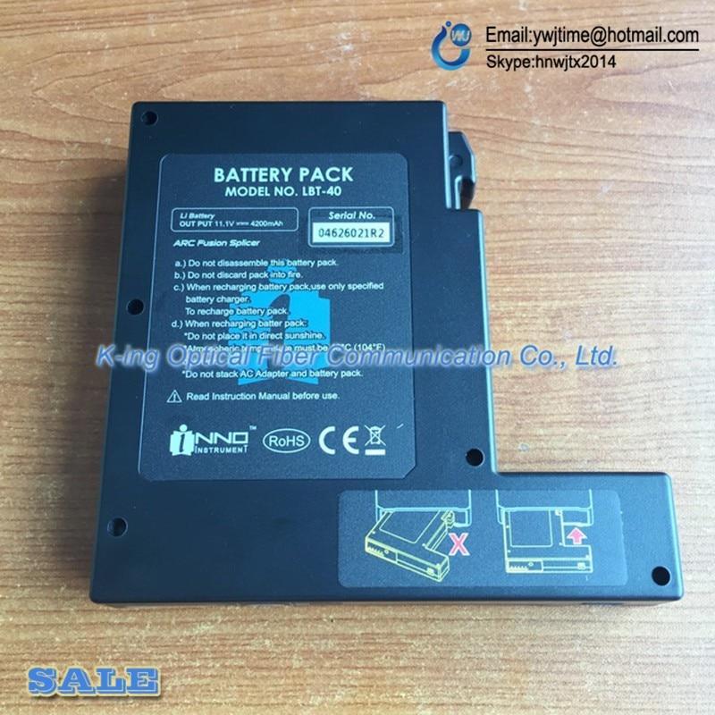 DHL Frete grátis INNO LBT-40 bateria para IFS-10/IFS-15/Vista 3/Vista 5/Vista 7 splicer da fusão