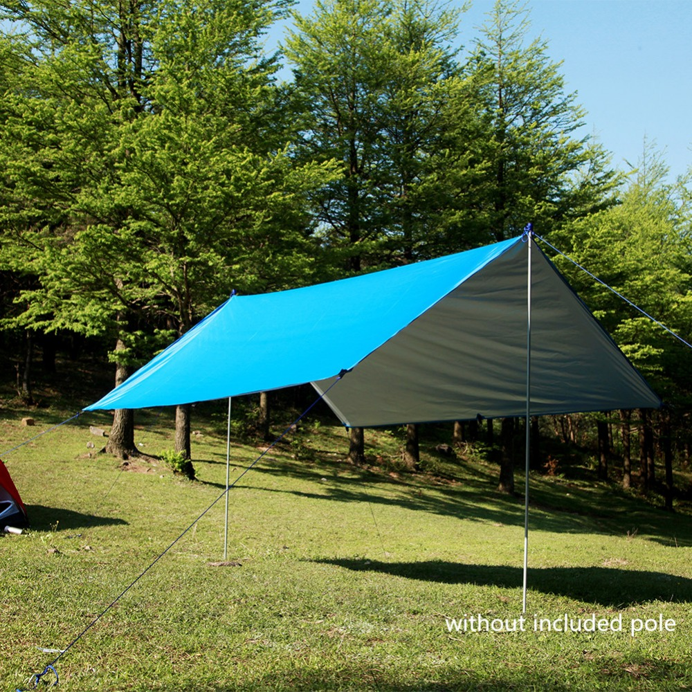 Logical 3 3m Awning 210t With Silver Coating Anti-uv Waterproof Sunshade Multifunction Hammock Rain Fly Tarp Waterproof Tent Shade Awnings