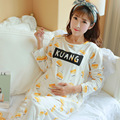 2016 New Maternity Sleepwear clothes for Pregnant Women Pajamas Nursing Breast Feeding Nightgown Free shipping