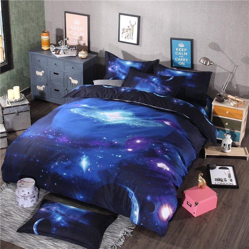 2016 Hot sale 3d Starry sky children bedding sets twin queen size 3/4 pcs of duvet cover bed sheet pillowcase duvet cover set