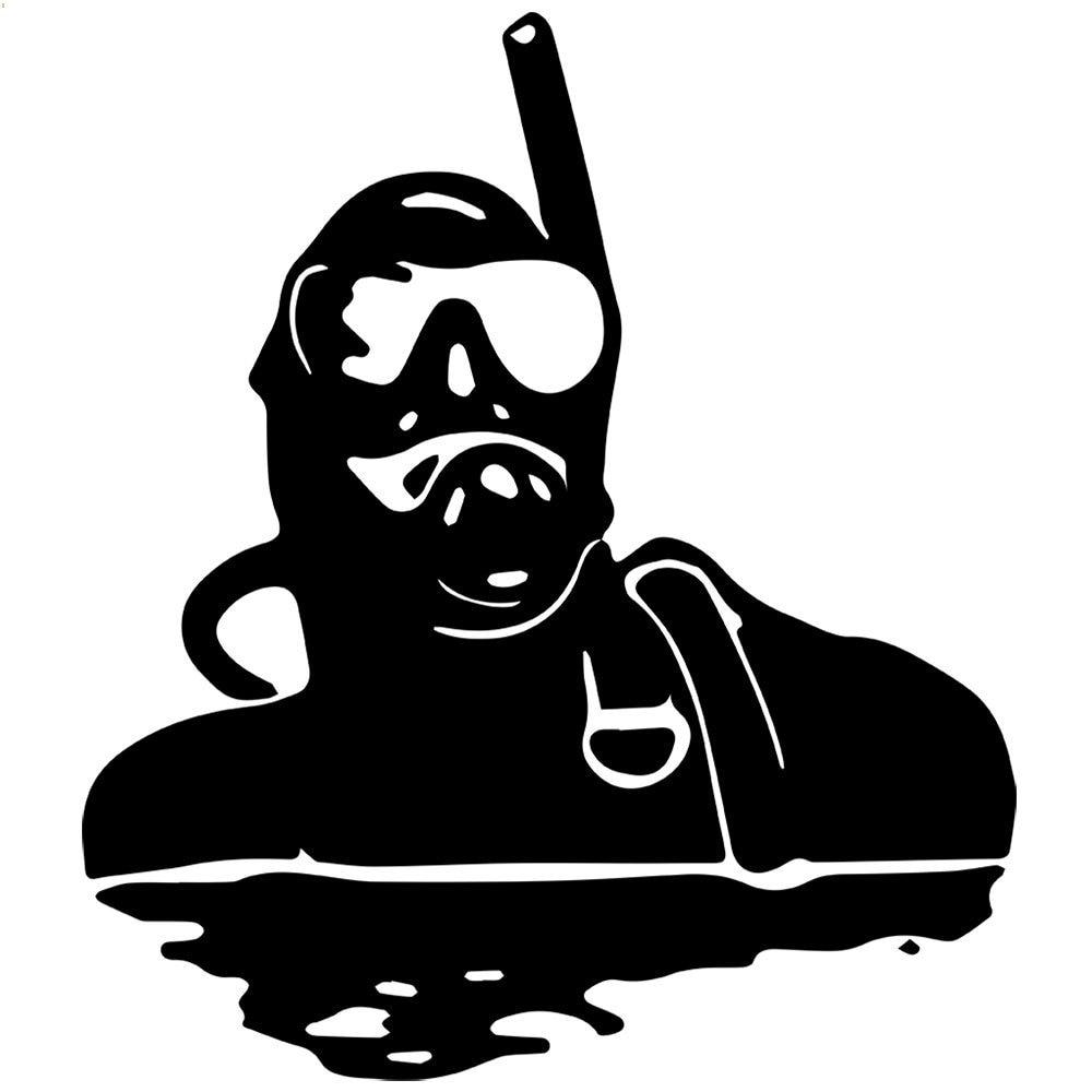 Aliexpress.com : Buy Diver Vinyl Wall Decal Scuba Diver ...