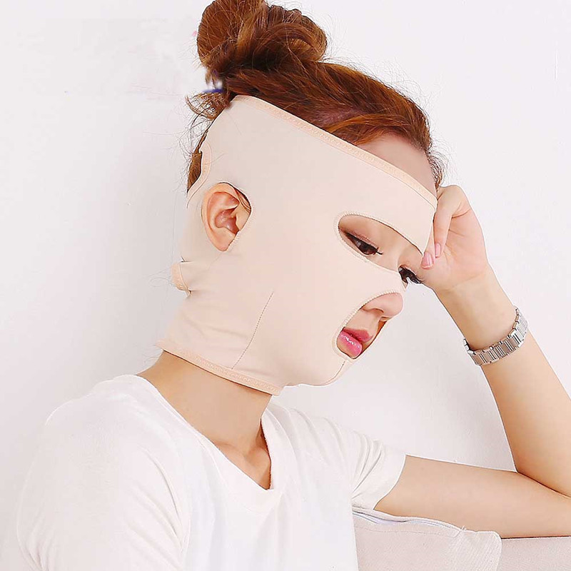 Fashion Face-lift Masks Relaxation Slimming Facial Thin Masseter Double Chin Beauty Face Shaper Health Care Bandage T261OLA 1pc face lift up belt sleeping face lift mask massage slimming face shaper relaxation facial slimming mask health care