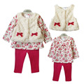 New Style Baby Girls Clothes Set Spring Autumn Winter Clothing Set Tops+Pants+Vest Kids Clothes Sets Baby Girl Clothes