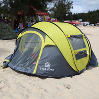 Outdoor 3 4 Persons Automatic Tent Speed Open Throwing Pop Up Tent Camping Tent Waterproof