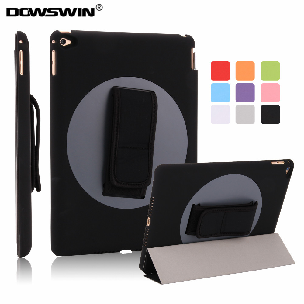 For Apple ipad Air 2 Case Air2 II Flip Case Wake Up /Sleep Smart Cover For New ipad 6 Air  with Smart Stand Holder for apple ipad air 2 case air2 ii flip litchi pu leather wake up sleep cover for new ipad 6 air 2nd with smart stand holder
