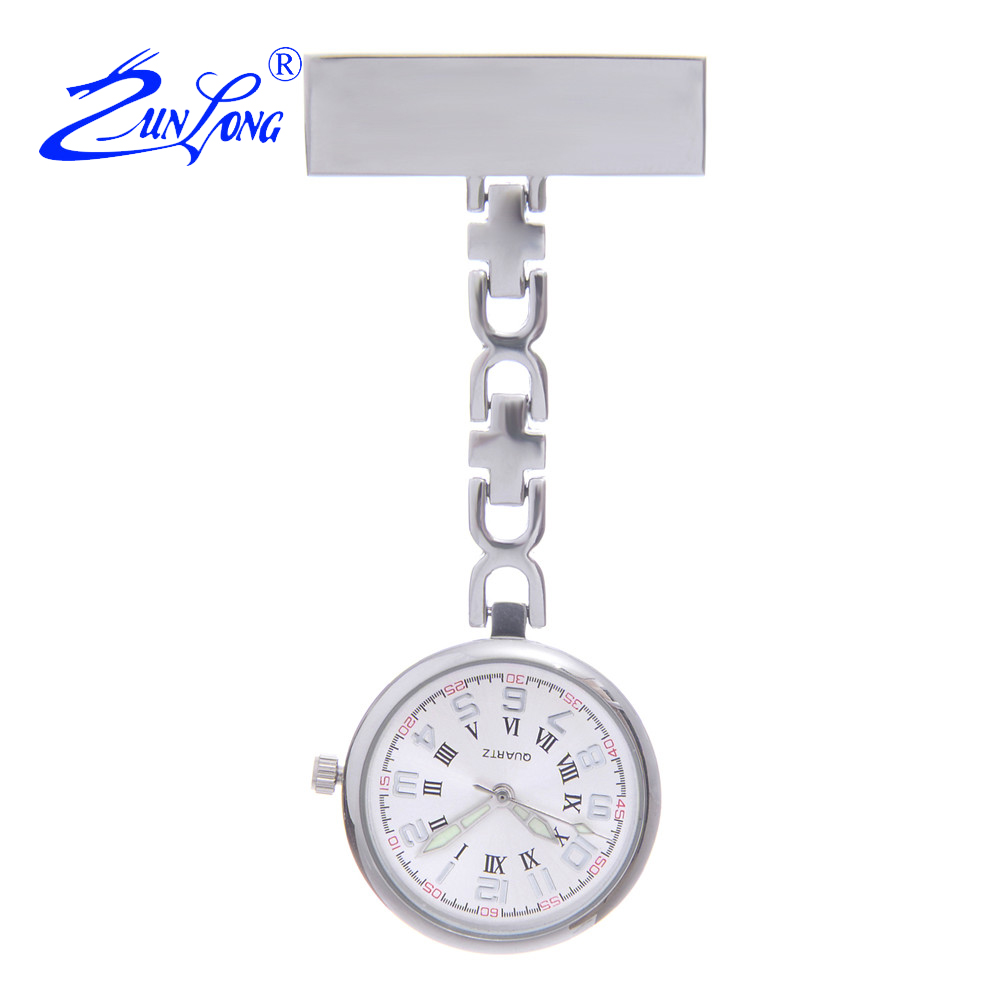 ZUNLONG Fashion Alloy Case Nurse Watches Doctor Pocket Watch Men Women Brooch Fob Hanging Medical Quartz Watches Clock Relogio old antique bronze doctor who theme quartz pendant pocket watch with chain necklace free shipping